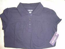 Cherokee School Uniforms: Girls Cap Sleeve, Navy Blue Top, Size: Xl