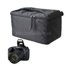 Padded Shockproof Foldable Partition DSLR SLR Camera Insert Protective Bag Black