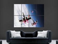 STAR WARS XWING FIGHTERS SPACE IMAGE HUGE LARGE WALL ART POSTER PICTURE