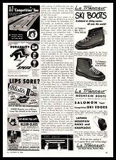 1954 Le Trappeur Mountain Salomon Ski Boot Boston Massachusetts Vintage Print Ad