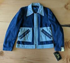 Herman Phillips Denim Jacket Made in Italy 40 Rare Hip Hop