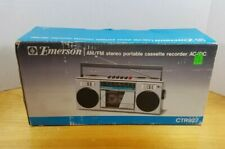 Emerson CTR927 AM/FM Stereo Portable Cassette Recorder Player w/ Box & Cable