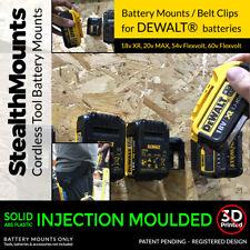 BATTERY MOUNT DeWalt Battery Mount Storage Holder for Shed, Van or Workshop