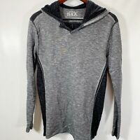 Buckle Black Hoodie Standard Fit Gray Black Pullover Cotton Stretch L Large