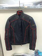 Hein Gericke Cobra Street Motorcycle Jacket men's Medium Leather/ Nylon Black