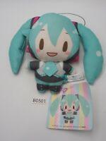"Hatsune Miku B0501 Vocaloid Mocchi SEGA Strap mascot 5"" Plush TAG Toy Doll Japan"