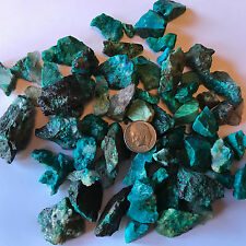 500 Carat Lots of SMALL Chrysocolla & Turquoise Rough + a FREE faceted Gemstone