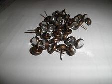 50 Ziernägel/Polsternägel Kristall / Swarowski m. Bronzefassung 11,5mm Durchmess