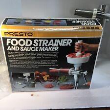 New listing Vintage Presto Food Strainer & Sauce Maker 02600 Purees fruits vegetables +box