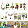Various Parrot Hanging Swing Bird Toy Harness Cage Parakeet Cockatiel Budgie Lot