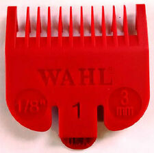 WAHL CLIPPER ATTACHMENT COMB X 1 - SIZE 1 (3mm) RED