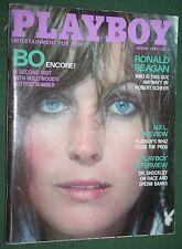 Playboy Aug 1980 Bo Derek Ronald Reagan Victoria Cooke POM Dr Schockly interview