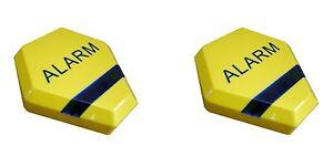 Dummy Alarm Bell Boxes Yellow Dummy Burglar Alarm Box - Solar Powered LED Lights