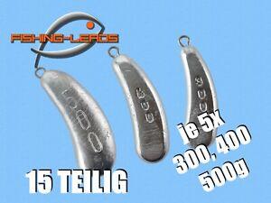 Norwegenblei 15 STK je 5x 300,400,500g Nierenblei Schleppblei Welsblei Angelblei