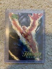 1995 Marvel Masterpieces HUMAN TORCH CANVAS INSERT CARD #9 - NM! Fleer - Devries
