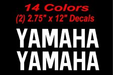 (2) Yamaha Decals  12in decal decals sticker stickers yz motogp r6 keyboard yzf