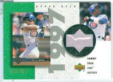 2002 UD AUTHENTICS (BB) Sammy Sosa SP REVERSE NEGATIVE JERSEY CHASE CARD #d /350