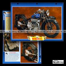 #132.04 Fiche Moto MOTOBECANE 750 B7 1930-1931 Classic Bike Motorcycle Card