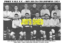 PORT VALE F.C. TEAM PRINTS X 20 (1934-1969)