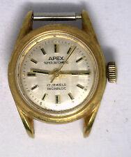 Antique Vintage APEX 17J Incabloc Waterproof Automatic Woman's Wrist Watch #W2k