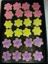 Fresh Homemade FLORAL CREAM CHEESE BUTTER COOKIES w/BUTTERCREAM FROSTING