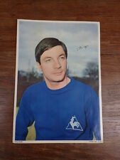 Grande Photo FOOTBALL EQUIPE FRANCE WC ENGLAND 1966 PUB CALTEX Johny SCHUTH