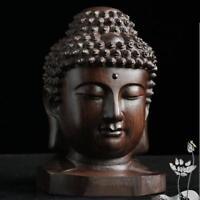 Hot  Chinesische Mahagoni Shakyamuni Amitabha Buddha Tathagata Kopf Statue NEW