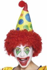 Adulto Clown Cappello Costume con Capelli Commedia Clown Cappello By Smiffys
