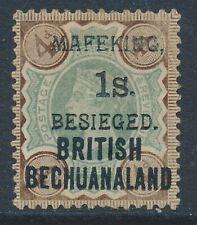 SG 11 mafeking 1900. 1/- on 4d green & purple-Brown. Fine unmounted mint. Very s