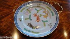 Herend Vintage Dinner Plate Vintage 1930's Poissons Pattern Blue Glazed #2525