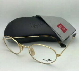 New RAY-BAN Rx-able Eyeglasses RB 3547V 2500 51-21 145 Shiny Gold Frame w/ Clear