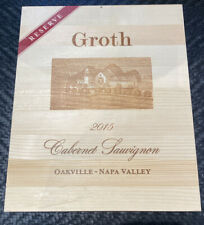 Groth Cabernet Napa Valley Reserve Rare 2 Sided Wine Wood Wine Panel Lid