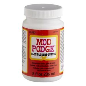 Mod Podge Gloss Finish Glue Top Coat Sealer for Decoupage Craft 8oz 16oz 2oz