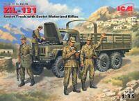 ZIL-131 W/SOVIET RIFLES (RUSSIAN, POLISH, CZECH & UKRAINIAN MKGS)#35516 1/35 ICM