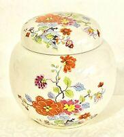 Sadler England China Ceramic Floral Ginger Jar Japanese Pattern Rare Vintage