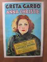 Greta Garbo in Anna Christie 1970's reprint Vintage Poster movie MGM inv#3753
