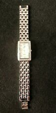 """8"""" Hsn Vg Free Shipping Suzanne Somers Ladies Silver-tone Watch"""
