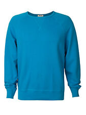 Men's Acne Studios College US Sweatshirt Crew Terry Knit Sweater Bright Blue XS