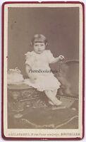 A.Delabarre Bruxelles Belgium CDV Vintage Albumina Ca 1885