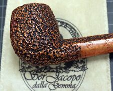 New & Unsmoked Ser Jacopo (R1) Rustic Billiard with 8 Sided Shank & Saddle Stem