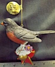 "The Danbury Mint Christmas The Song Bird Ornament ""Robin"" Figure Euc"