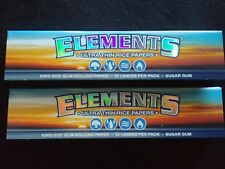2 x Elements King Size Slim Rice Cigarette Rolling Papers Natural Organic 110mm