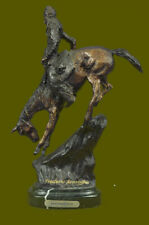 F. Remington Mountain Man Native American Indian Western Bronze Sculpture Decor