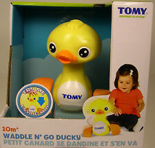 WADDLE & GO PLASTIC DUCKY TOMY PRODUCED PLAY TOY FOR YOUNG CHILDREN AGES 10M UP