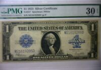 """1923 $1 ONE DOLLAR """"HORSE BLANKET"""" SILVER CERTIFICATE LARGE SIZE NOTE VF 30"""