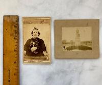 Victorian Photo CDV possible Confederate Identified American Revolution Statue