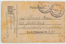 AUSTRIA ALPINE REGIMENT KuK Feldpost Card 1918 WW1 Ex Ljubljana SLOVENIA BM324