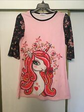 Girls Unicorn Top Or Dress Size 14