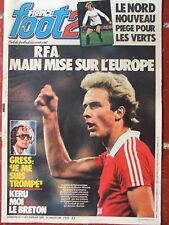 France Foot2 N°89 (7 déc 1979) RFA - Gress - Kéruzoré - Football du Nord