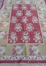New Target Global Bazaar Vintage 5' x 7' Wool/Cotton Fringe Rug Made In India